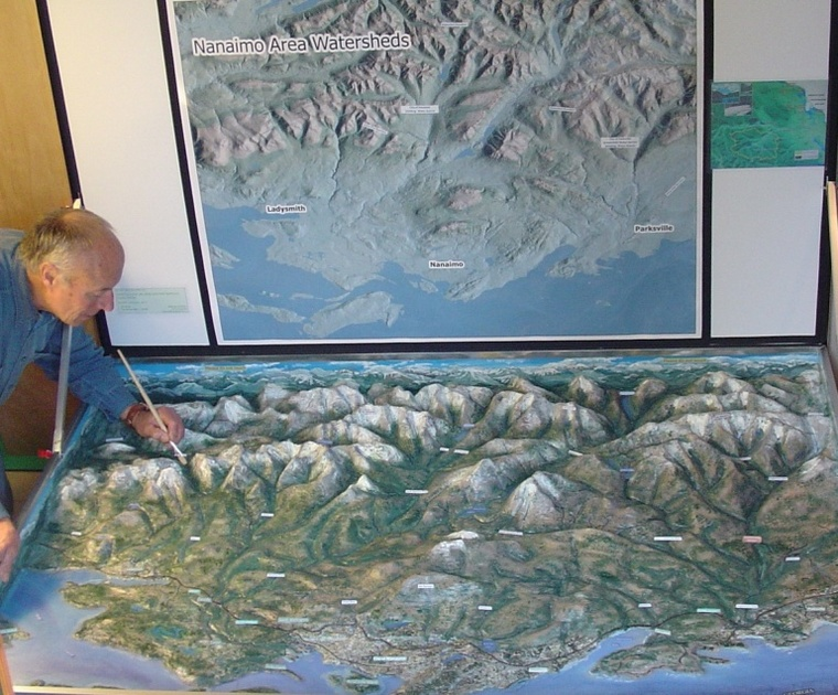 NANAIMO WATERSHED 3D MAP by EDITOR